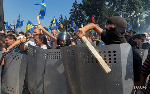 Беспорядки в Киеве: столкновения продолжились на улице Грушевского