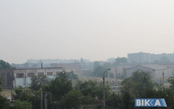 Дым из Киева пошел в Черкасскую область