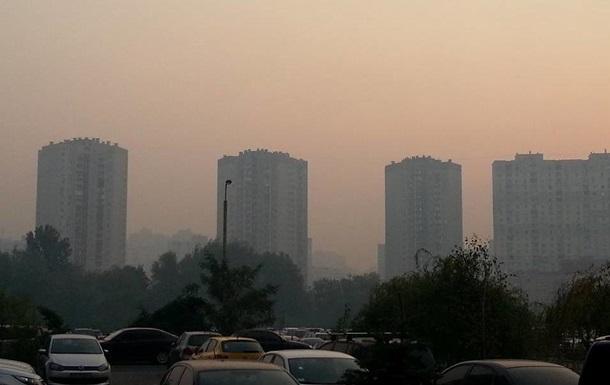 Дым в Киеве 3 сентября