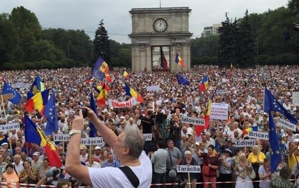 В Молдове собрался многотысячный антиправительственный митинг