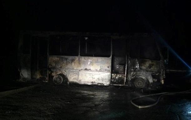 В Запорожье сожгли автобус полка Донбасс - волонтеры