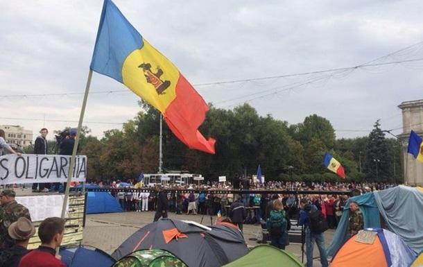 Демонстранты в Молдове призвали к всеобщей забастовке