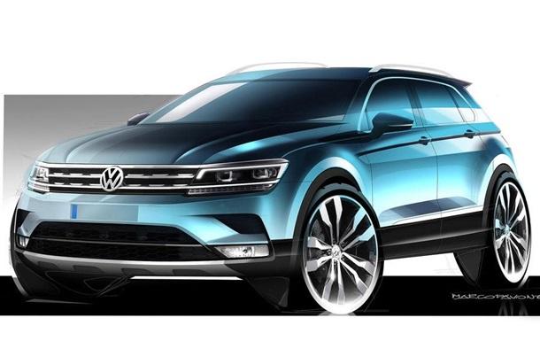 Volkswagen показал дизайн обновленного кроссовера Tiguan