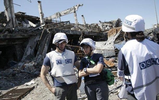 ОБСЕ: В районе аэропорта Донецка много взрывов