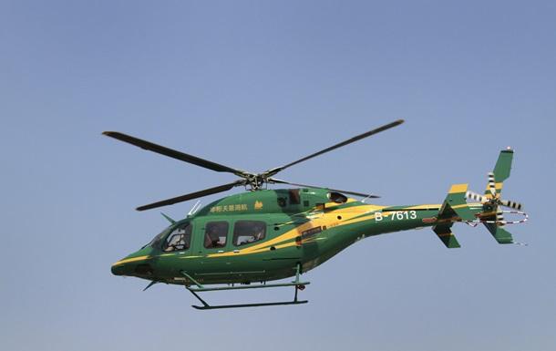 В Китае разбился вертолет, погибли два человека