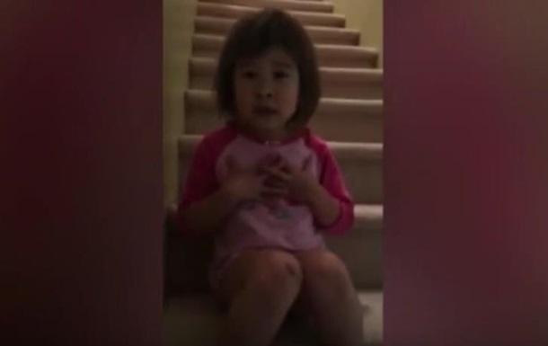 Видео 6-летней девочки, пытающейся помирить родителей, стало хитом