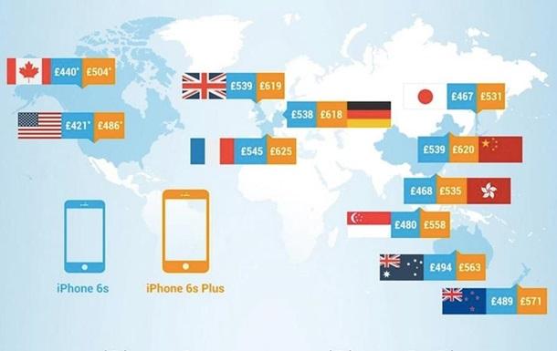 Эксперты выяснили, в каких странах новый iPhone 6s будет стоить дешевле