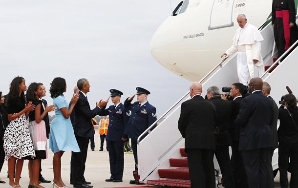 Папа Франциск прибыл в Вашингтон с официальным визитом