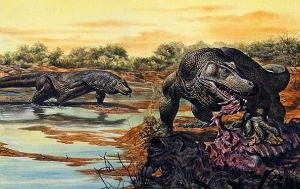 Первые аборигены воевали с гигантскими ящерами - ученые