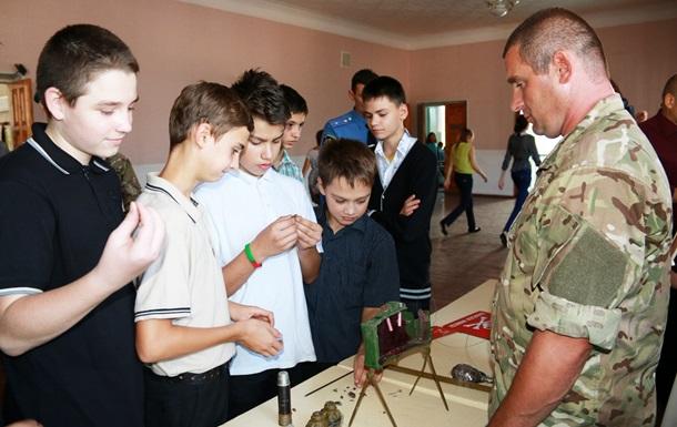 Минобороны начало  противоминную кампанию  в школах Донбасса