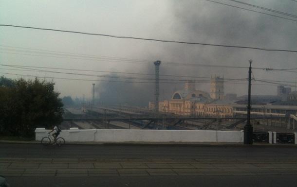 Харьков окутало дымом из-за пожара