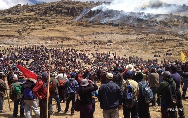 В Перу акция протеста против строительства шахты закончилась гибелью людей