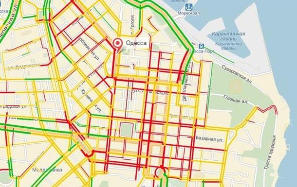 Центр Одессы парализовала огромная пробка
