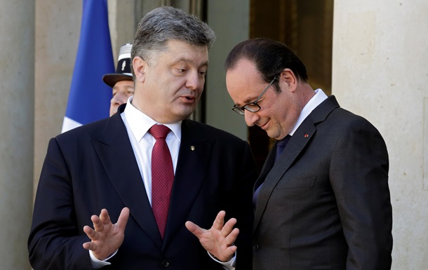 Порошенко и Олланд встретятся лично перед саммитом в Париже
