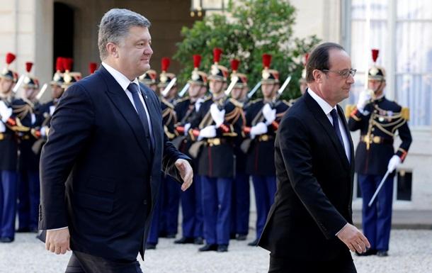 Порошенко, Меркель и Путин прибыли в Елисейский дворец