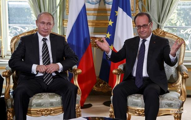 Олланд выдвинул Путину три условия по Сирии – Reuters