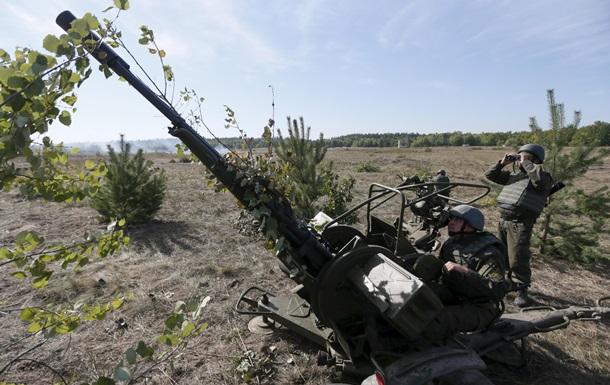 В Донбассе начался отвод вооружения калибром 100-мм
