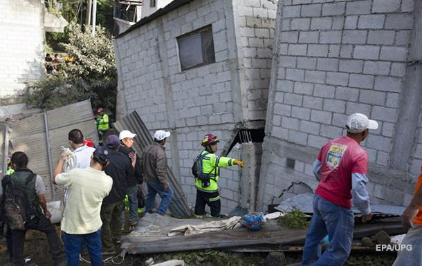 Количество жертв оползня в Гватемале увеличилось