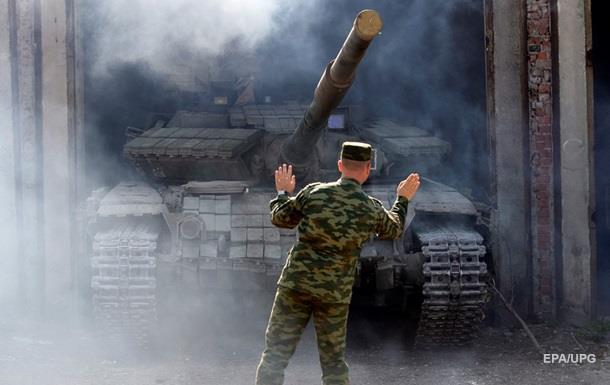 На Луганщине военные начали отвод танков