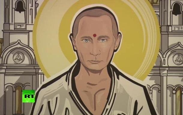 Путина изобразили Буддой и Жанной д Арк на выставке