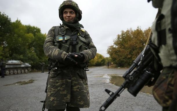 Минобороны подсчитало женщин-бойцов АТО
