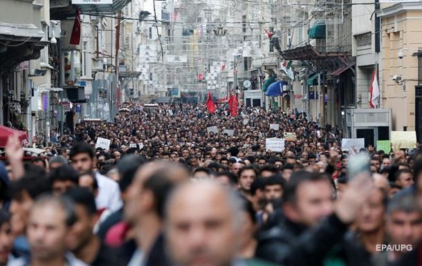 Во Франции прошли акции протеста в связи с терактом в Анкаре