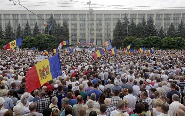 Протестующие в Кишиневе заблокировали центральный проспект