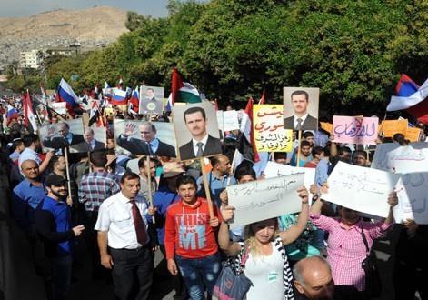 Тысячи сирийцев выразили признательность РФ за поддержку в борьбе с терроризмом