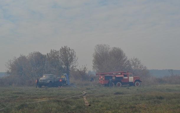 На Киевщине увеличилась площадь пожара торфяников