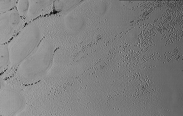 NASA показало фото таинственных узоров на Плутоне