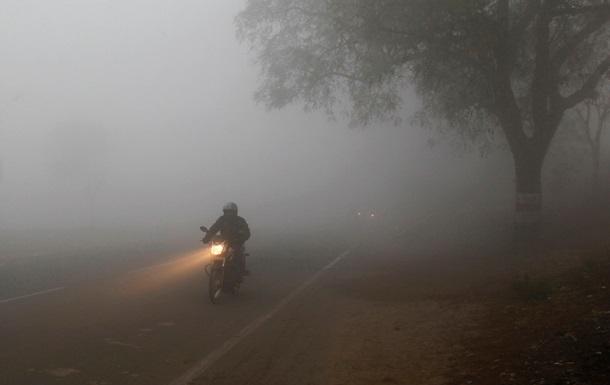 На Киевщине из-за тумана видимость упала до полукилометра