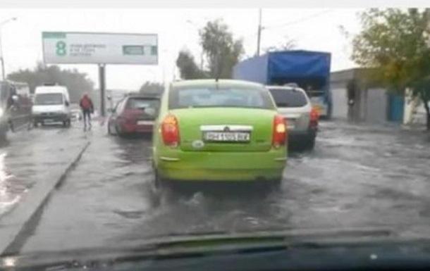 Сильный ливень затопил Одессу