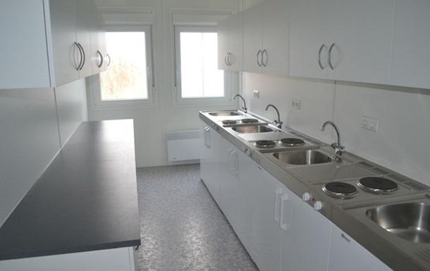 Модульный городок для переселенцев в Харькове заселен полностью