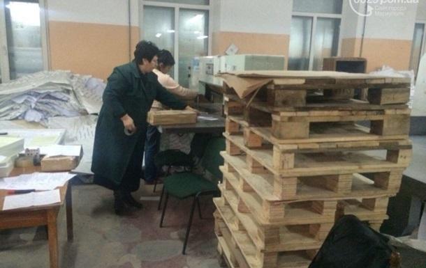В Мариуполе перепечатывают испорченные бюллетени