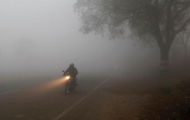 Киевскую область вновь накрыл туман