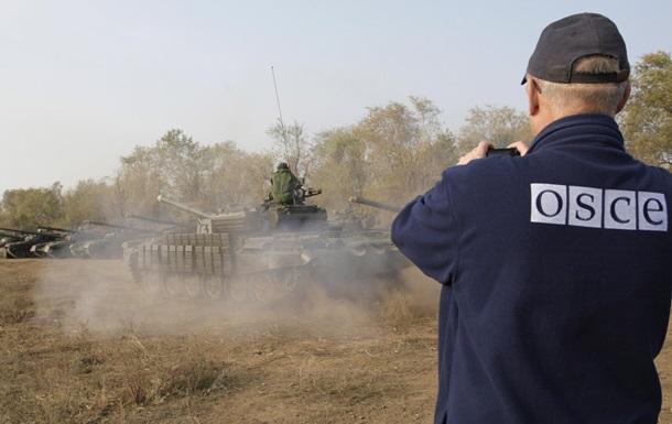 ОБСЕ нашло в Донбассе неотведенные танки