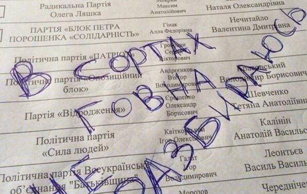Украина проигнорировала выборы