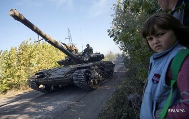На Донбассе последний день проверки отвода танков