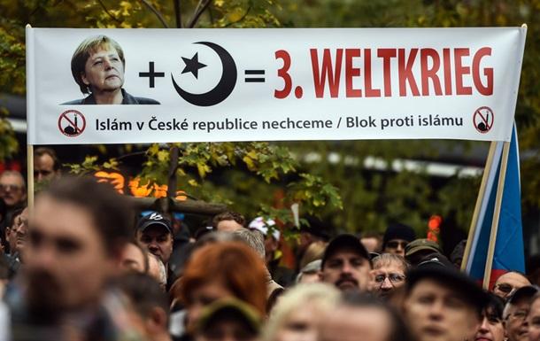 В Чехии прошли антимигрантские митинги