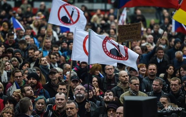Итоги 28 октября: Митинги в Чехии, удары по Сирии