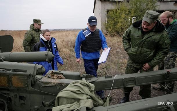 Сепаратисты не показали свою артиллерию - ОБСЕ