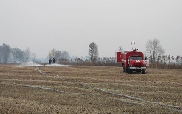 Под Киевом в семи районах еще горят торфяники