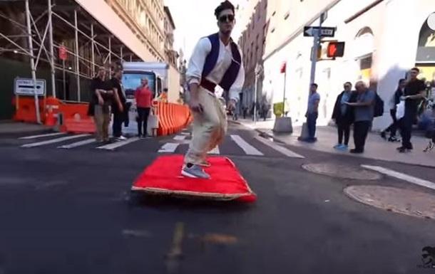 Видео Алладина на ковре-самолете