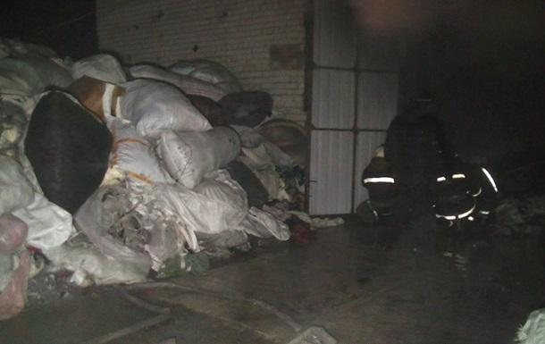 На Харьковщине горел склад китайского предпринимателя