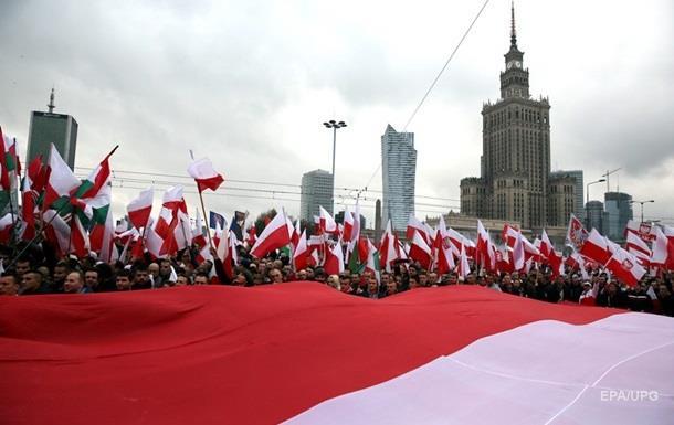Польские националисты провели марш против иностранцев
