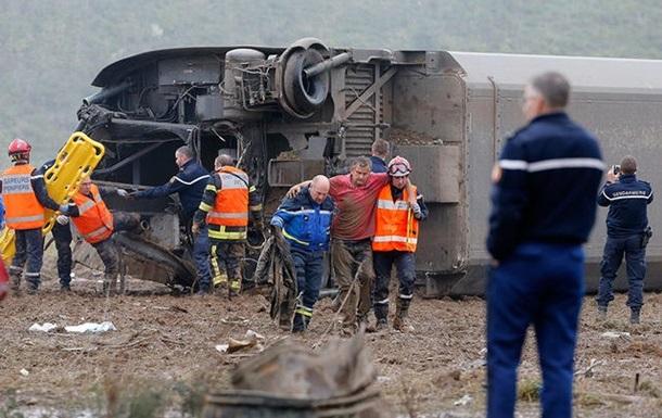Крушение поезда во Франции: погибли десять человек