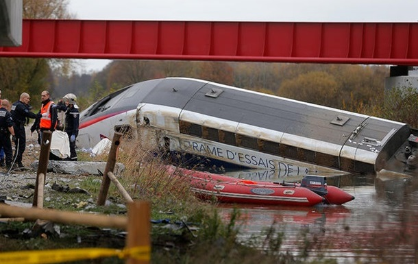 Названа причина аварии высокоскоростного поезда во Франции