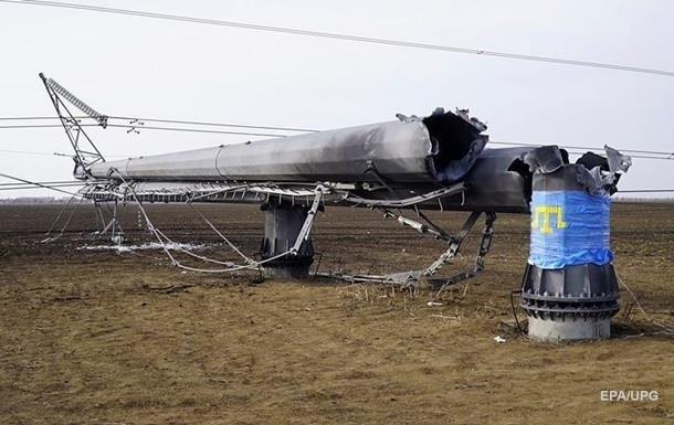 Сегодня могут восстановить одну из ЛЭП в Крым
