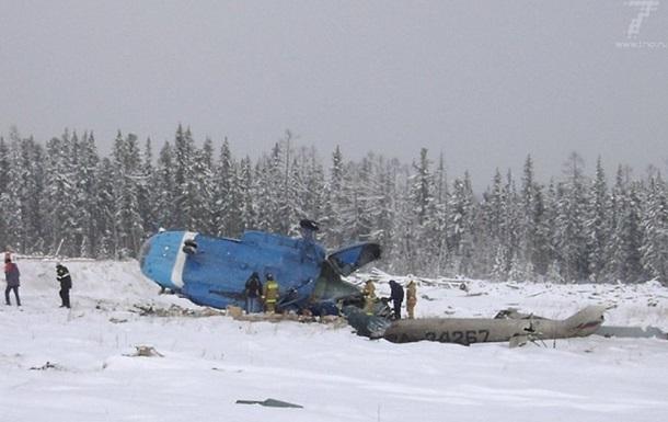 В РФ упал вертолет с пассажирами, есть погибшие