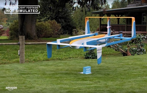 Amazon создал доставляющего покупки дрона